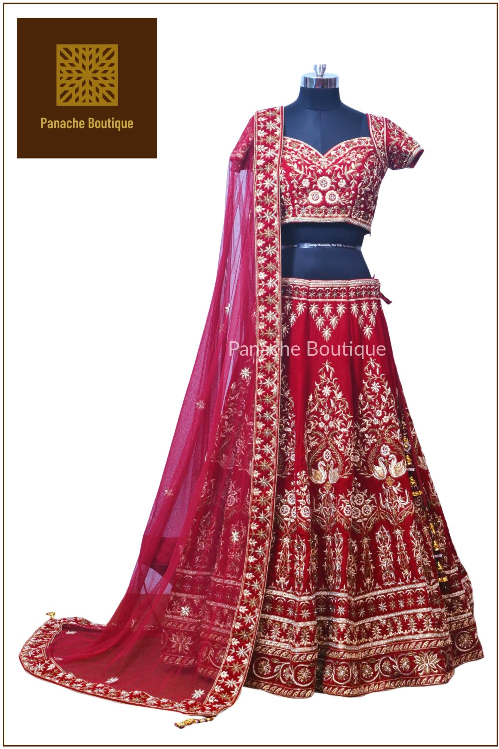 Maroon Colour Wedding Lehenga
