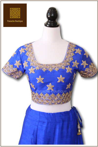Bright Blue Colour Wedding Lehenga