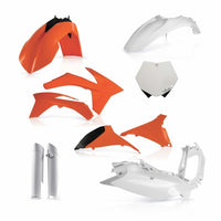 KTM Full Plastic Kit - Orange/White