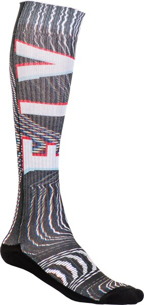 MX Pro Socks Thin Glitch - Black/White