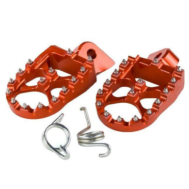 Orange Aluminum Foot Pegs - EMD Racing Online