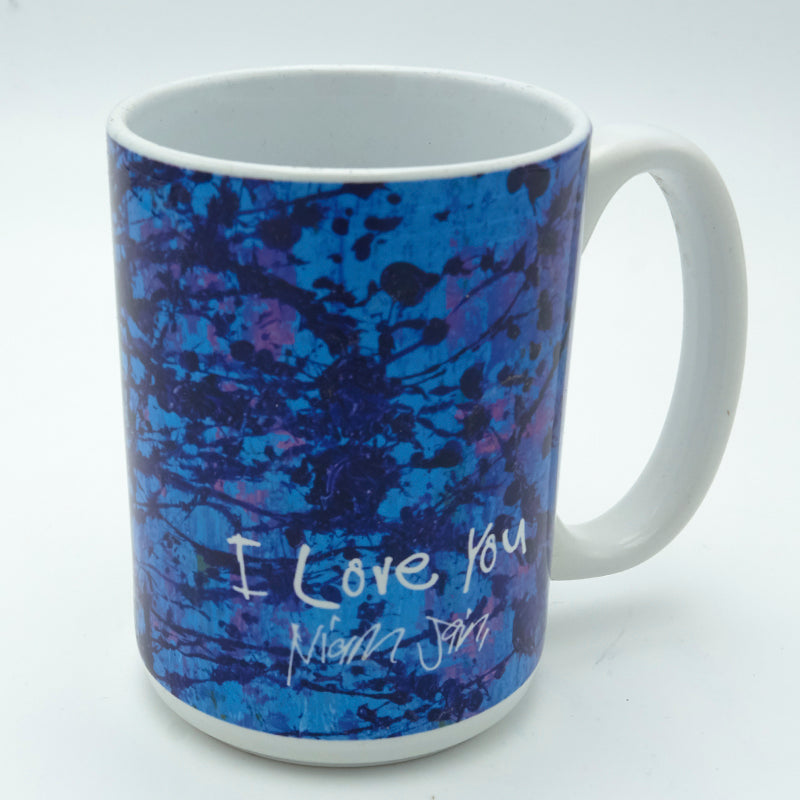 Blue Splatter 11 ounce Mug