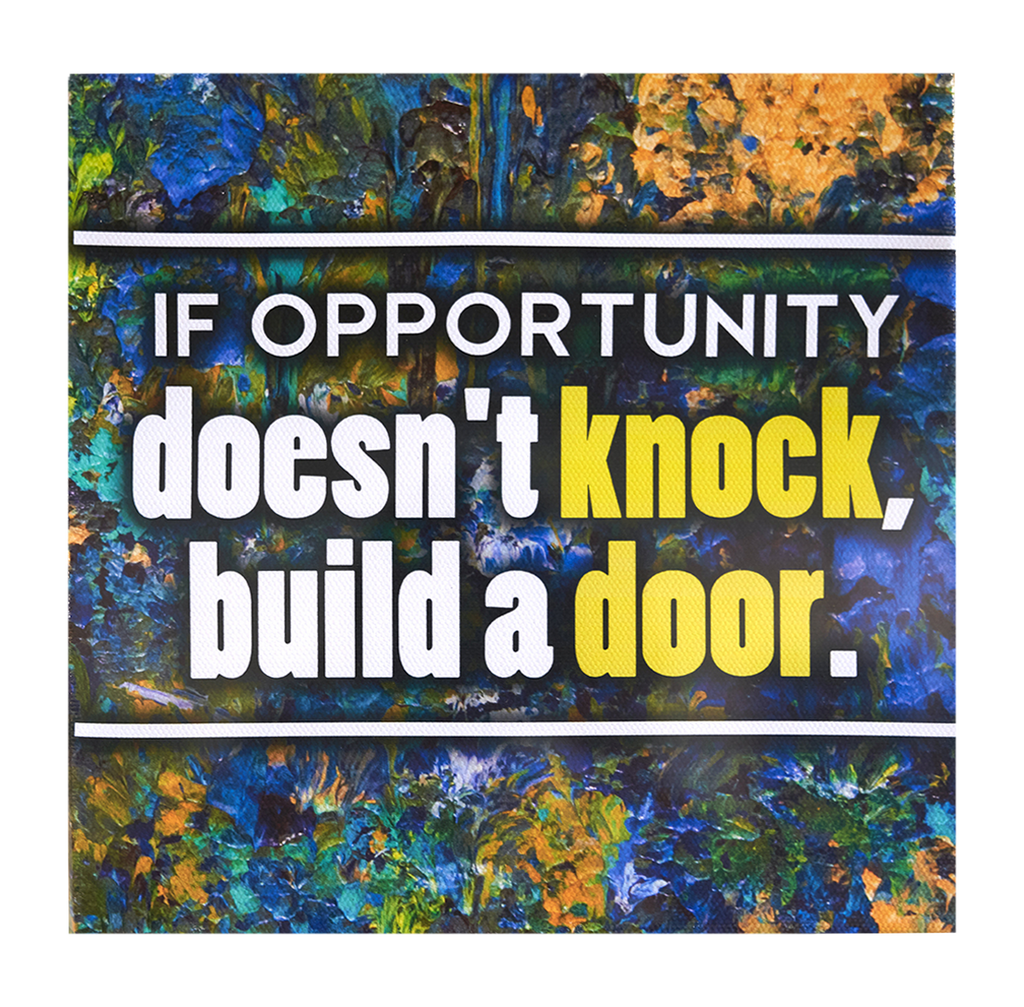 Inspirational Canvas Wall Art: Opportunity...