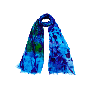 Blue Splatter Scarf
