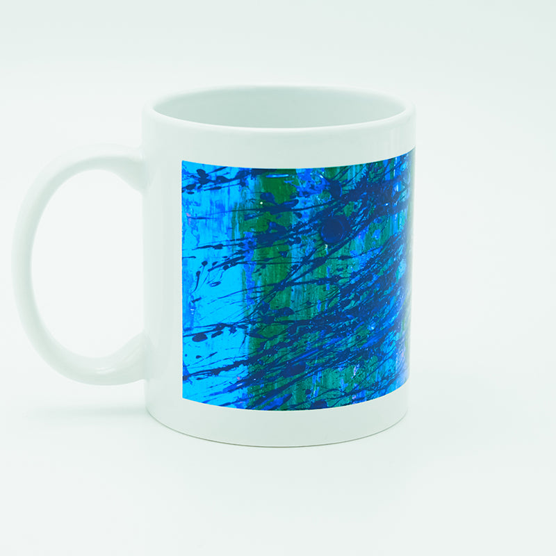 Blue Splatter 8 oz. Mug