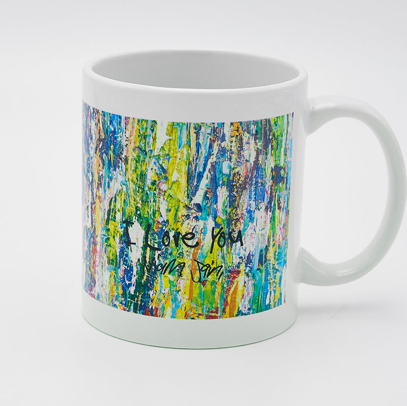 Blue Waterfall 8 ounce Mug