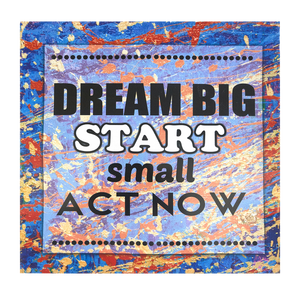 Inspirational Canvas Wall Art: Dream Big....