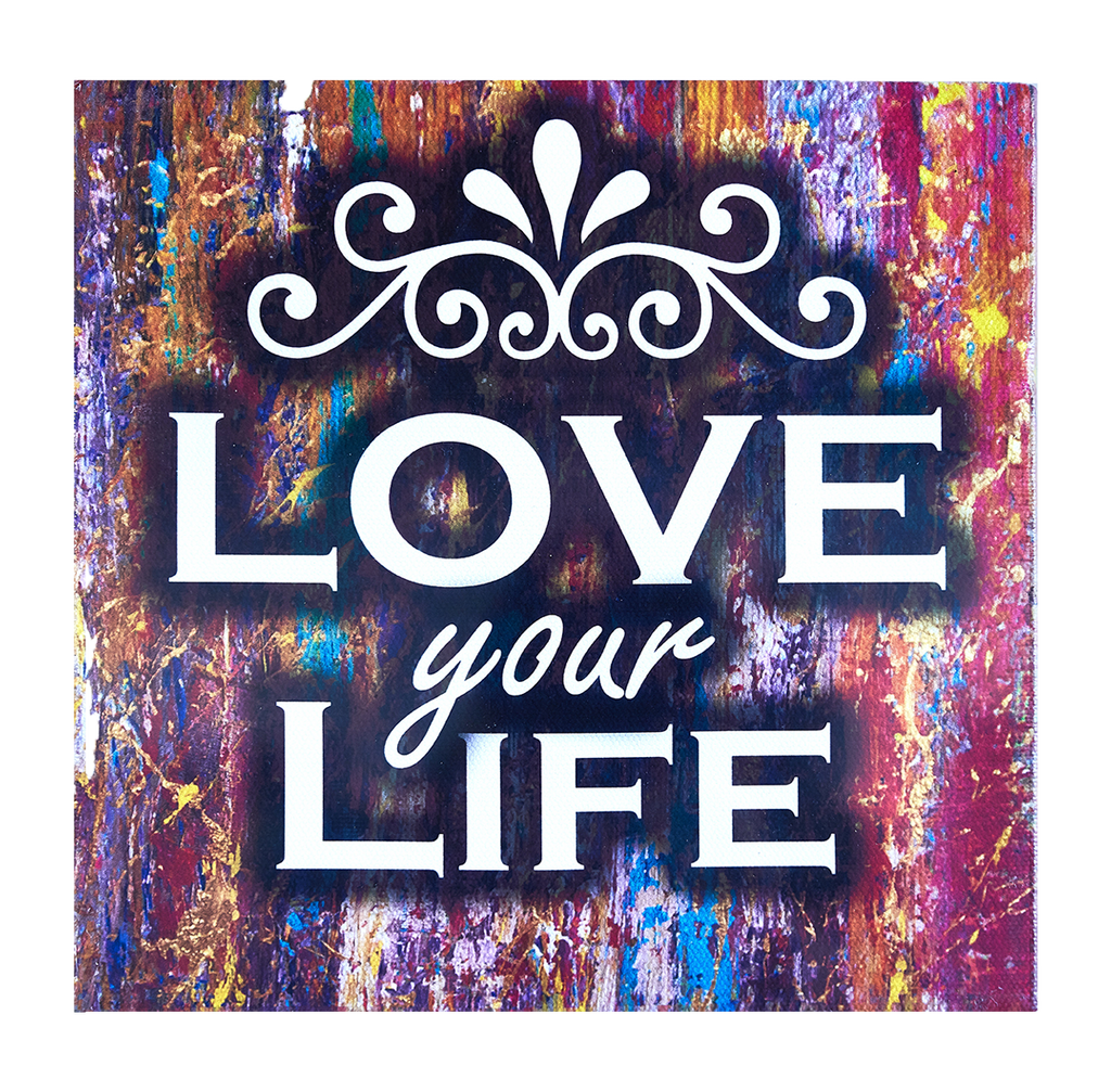 Inspirational Canvas Wall Art: Love Your Life