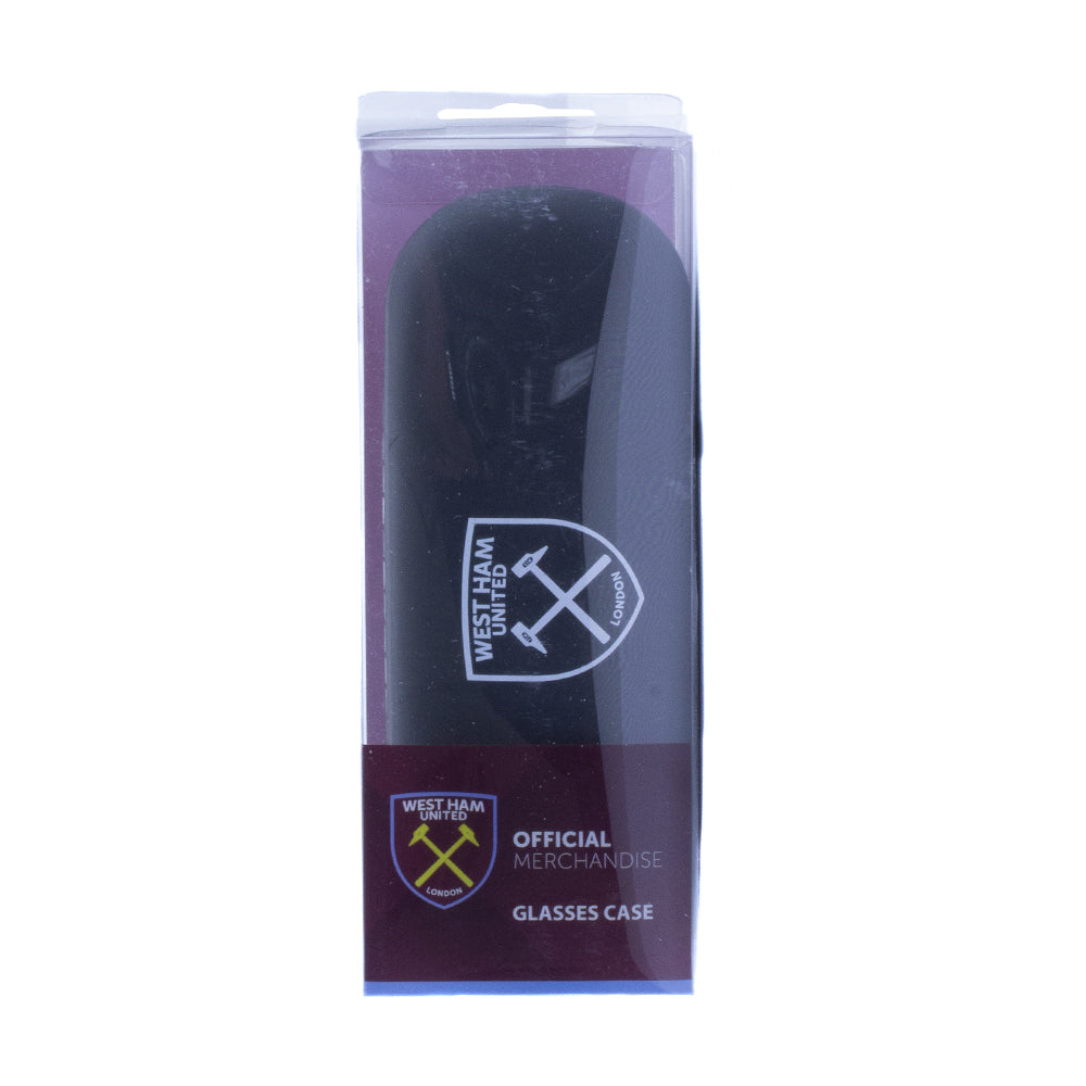 West Ham United Glasses Case & Cloth - Black