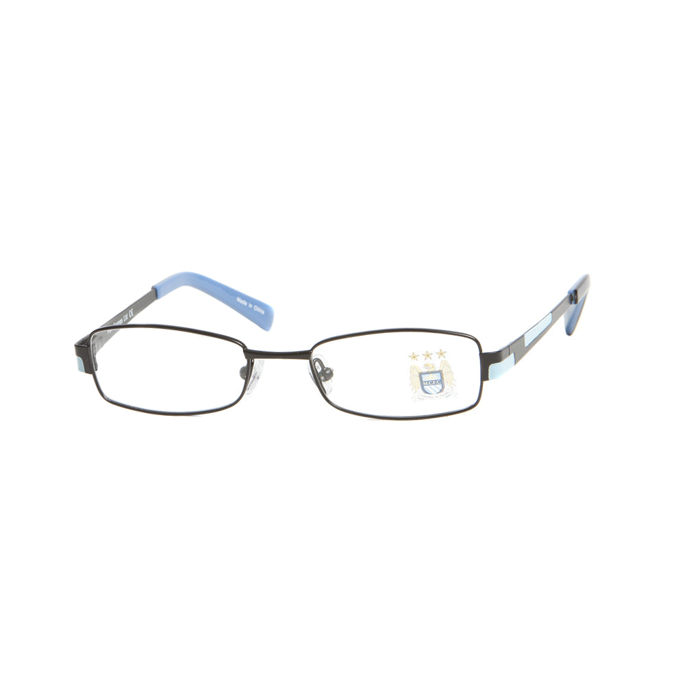 Manchester city fc kids square metal glasses