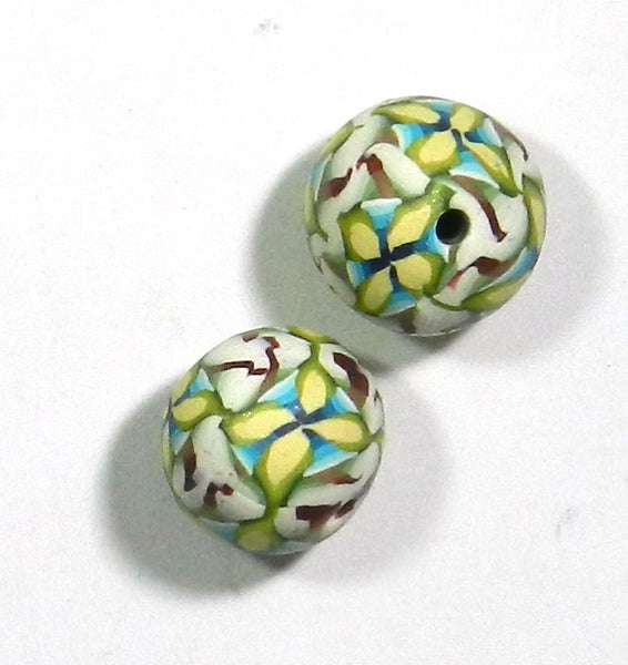 Polymer Clay Beads 2pc. Set