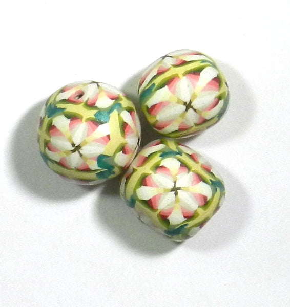 Polymer Clay Beads 3pc. Set