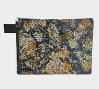 Bark Batik Ink #22 Zipper Carry All