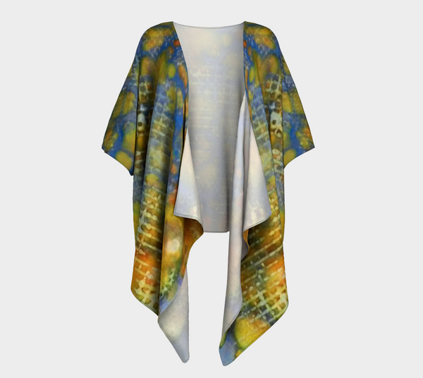 Window Into Summer Ink # 17 Draped Kimono