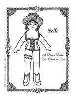 Belle of the Wild West Paper Doll Set