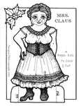 Mrs. Claus Paper Doll Set
