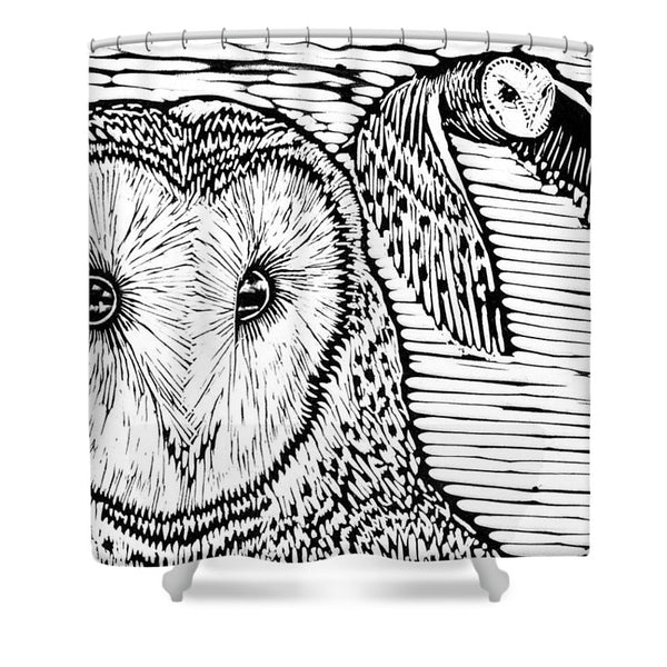 Barn Owls - Shower Curtain