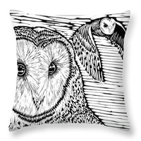 Barn Owls - Throw Pillow