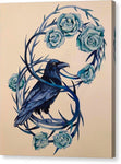 Blue Thorned Raven - Canvas Print