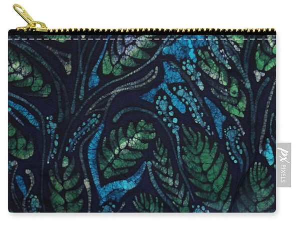 Green Leaves And Blue - Carry-All Pouch