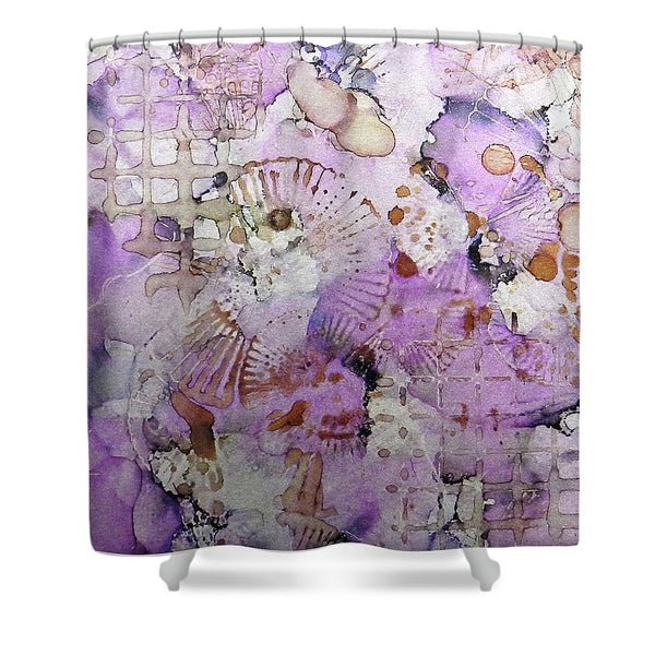 Lavender Mornings Ink #6 - Shower Curtain
