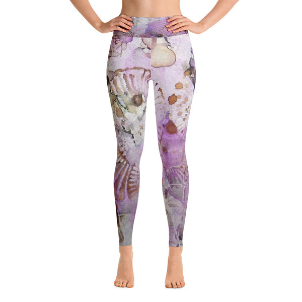 Lavender Mornings Ink #6 Yoga Leggings