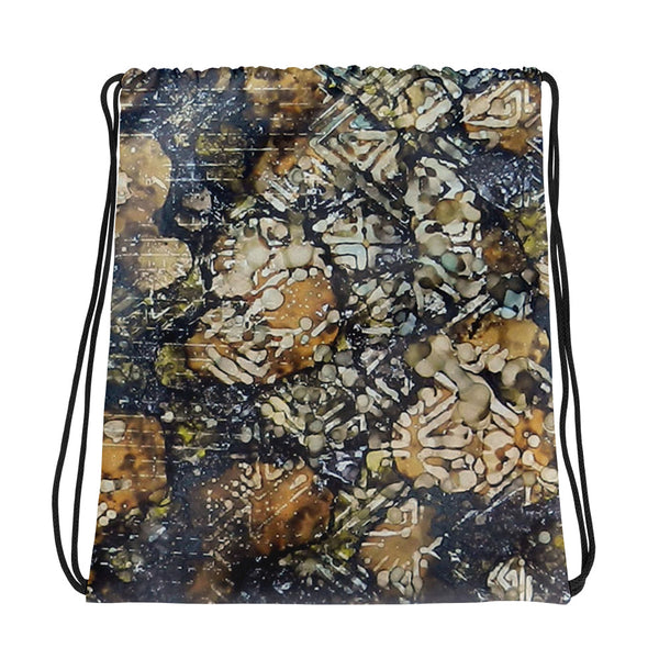 Bark Batik Ink #22 Drawstring bag