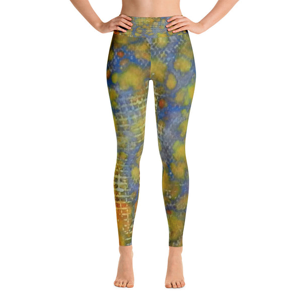 Window Into Summer Ink #17 Yoga Leggings