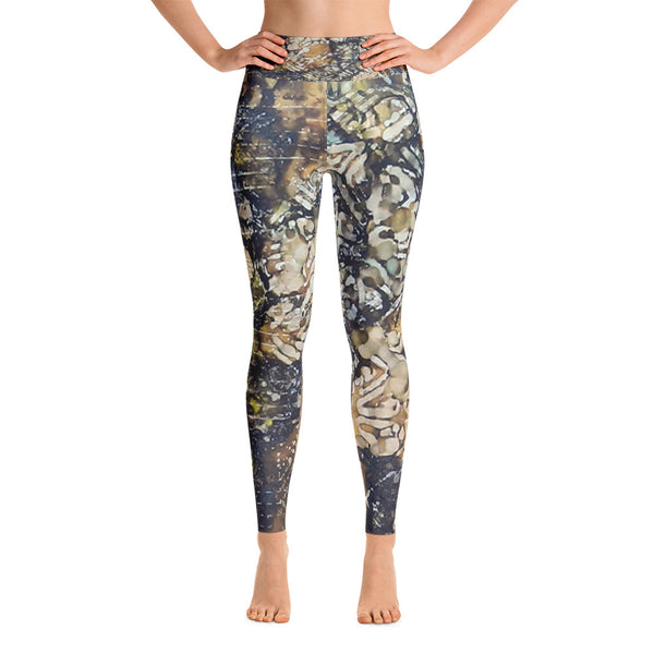 Bark Batik Ink #22 Yoga Leggings