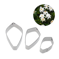 3 Pcs/Set Gardenia Flower Cookie Cutters Stainless Steel