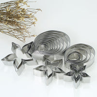 23pcs Rose Cookie Cutters Stainless Steel