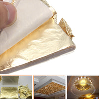 100sheets Imitation Gold Silver Copper Leaf Foil