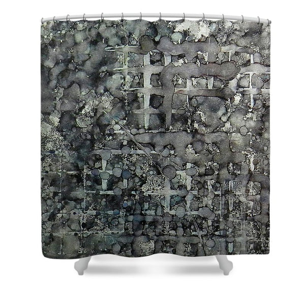 Sumi Squares Ink #11 - Shower Curtain