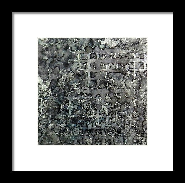 Sumi Squares Ink #11 - Framed Print