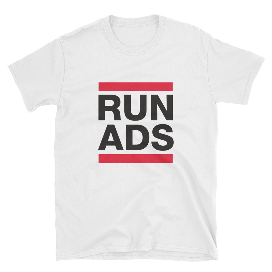 Run Ads White T-Shirt