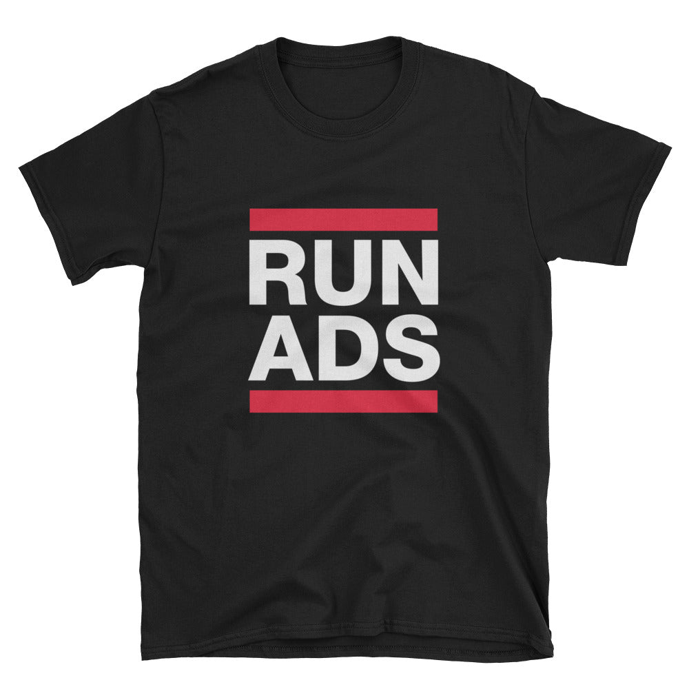 Run Ads Black T-Shirt