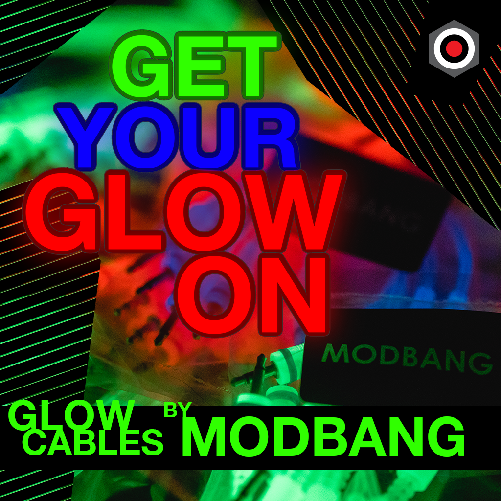 Get your glow on with these glow-in-the-dark patch cables by Modbang!