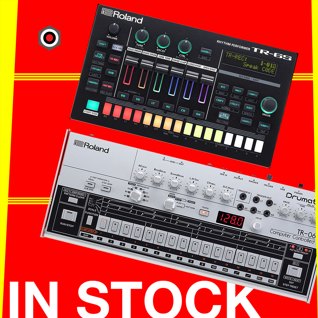 Roland TR-6S and TR-06 are in now in stock!