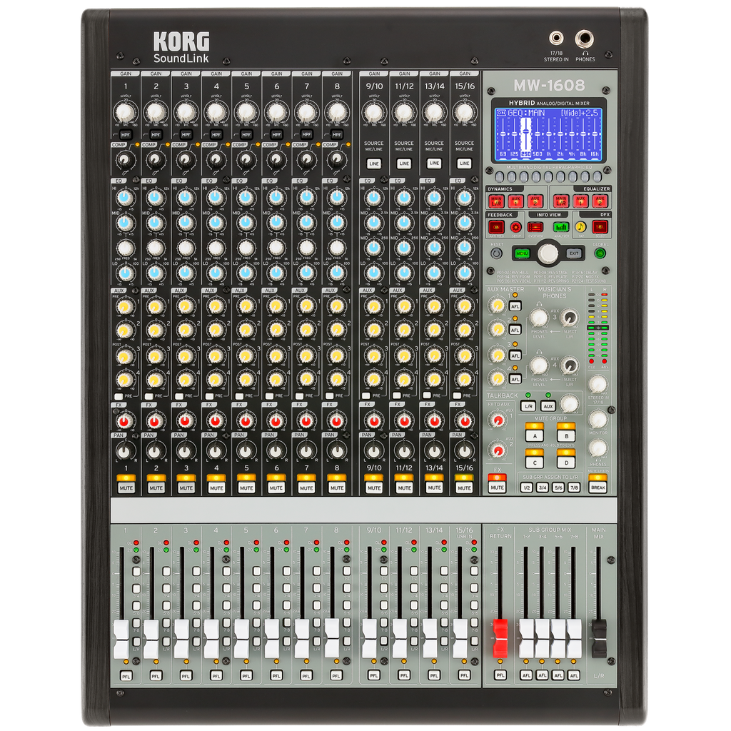 Korg MW-1608 16-channel 8-Buss Analog/Digital Mixer