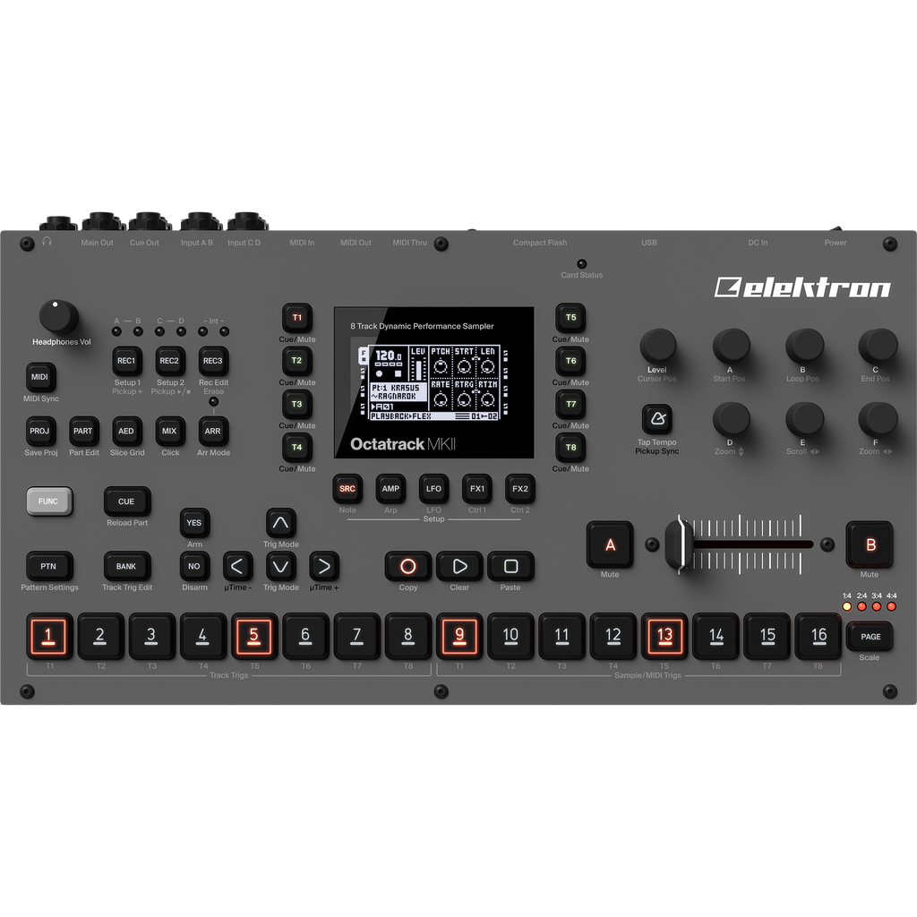 Elektron Octatrack MKII 8-track Performance Sampler (Grey Edition)