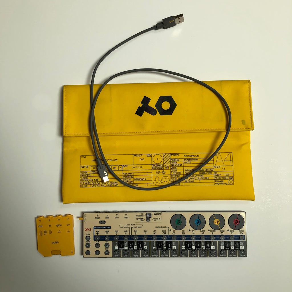 Used OP-Z with oplab module and Yellow PVC Case