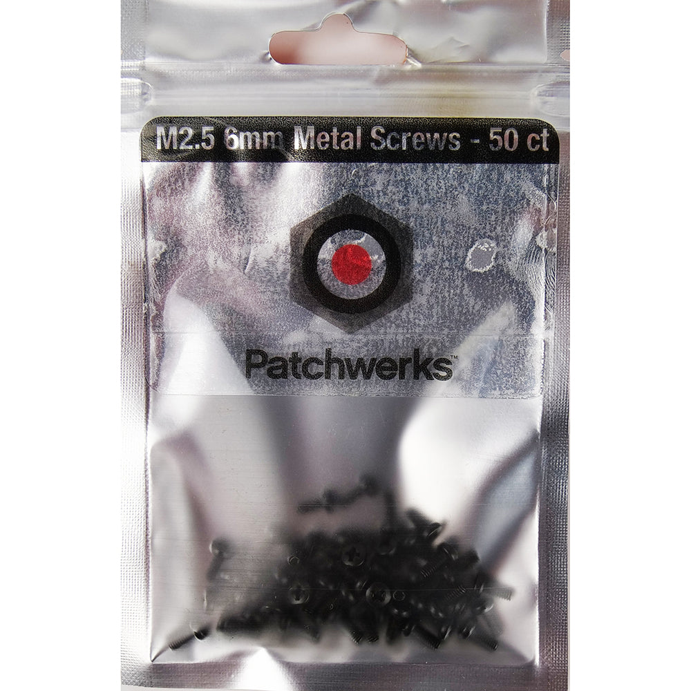 Patchwerks Black M2.5 6mm Metal Eurorack Screws (50 count)