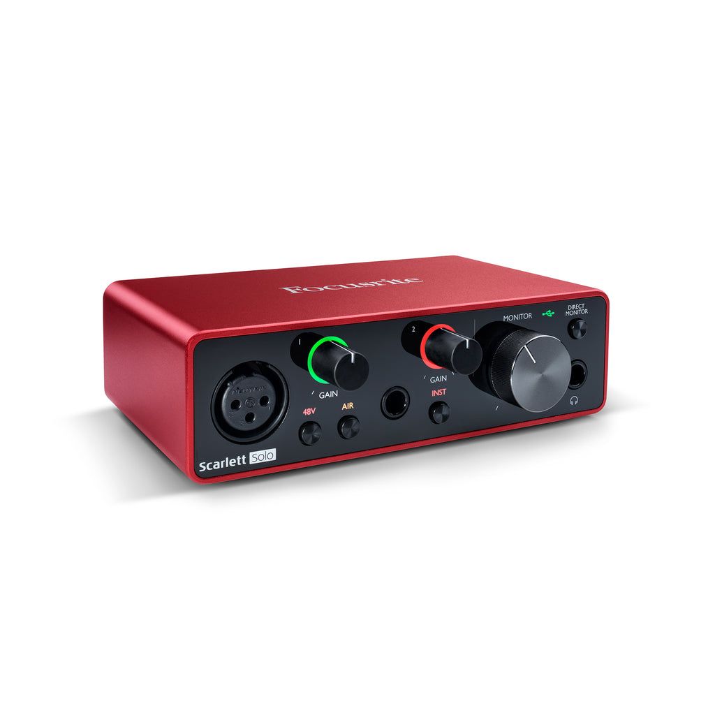 Focusrite Scarlett Solo 3rd Gen 2-in, 2-out USB audio interface