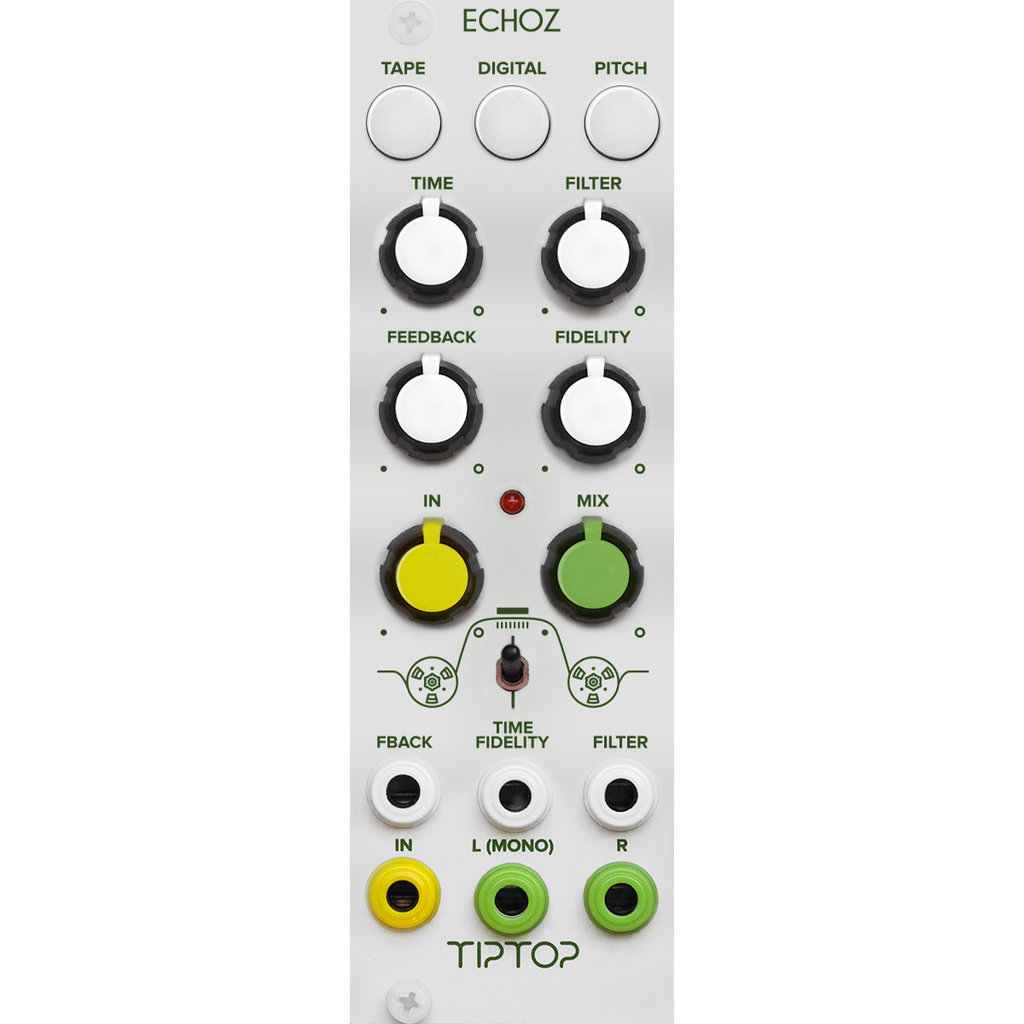 Tiptop Audio ECHOZ Time Delay Effect Module (white)