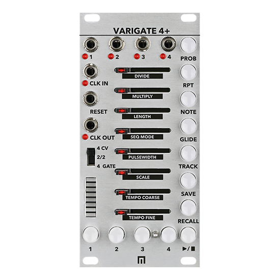 Malekko Varigate 4+ Gate/CV Sequencer (Black)