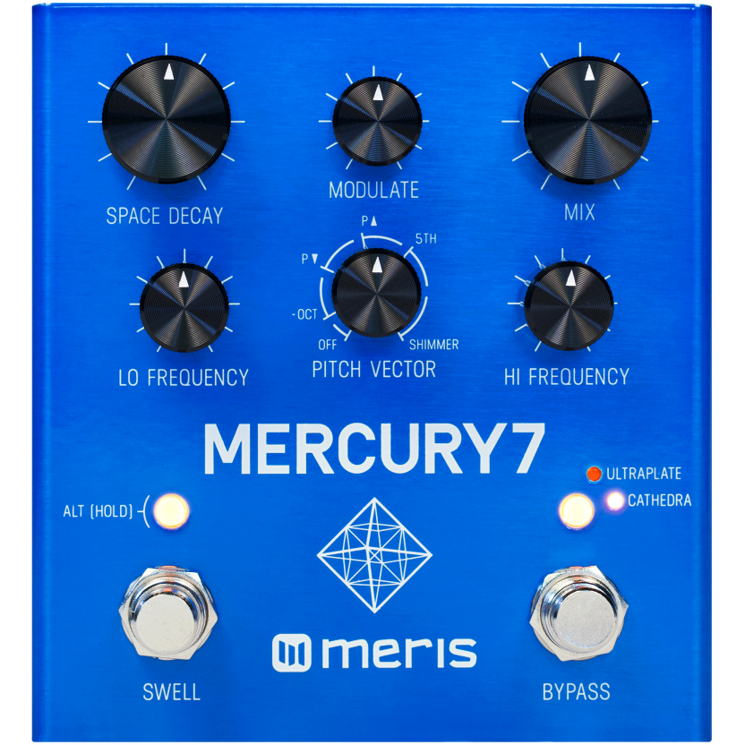 Meris Mercury7 Reverb Pedal (Open Box)