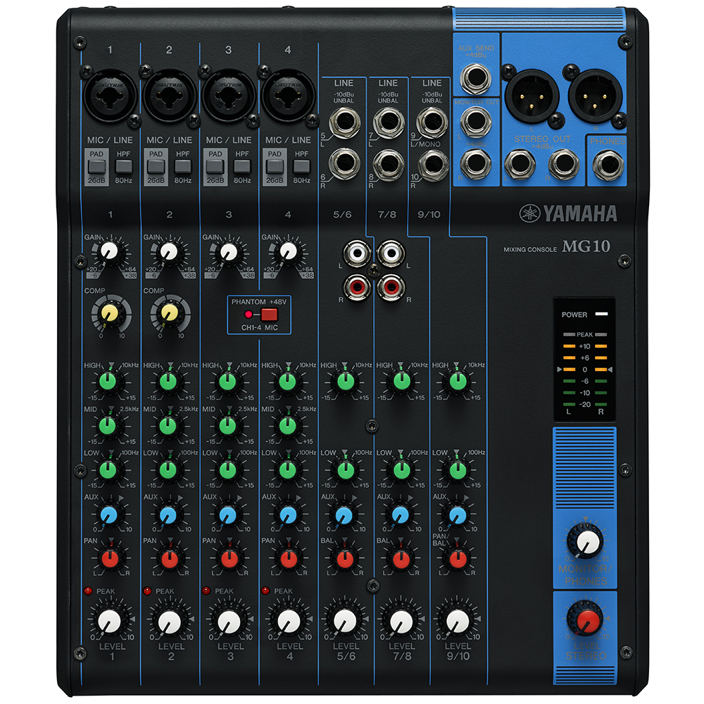 Yamaha MG10 10-channel Mixer