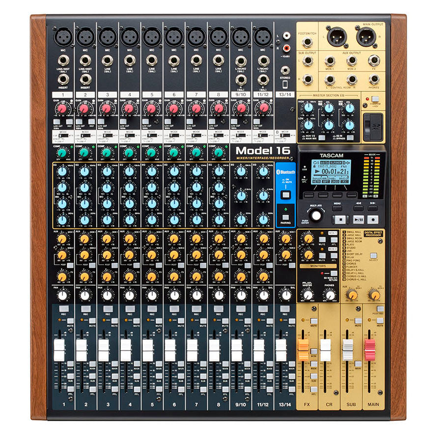 Tascam Model 16 Mixer, Recorder, and Audio Interface