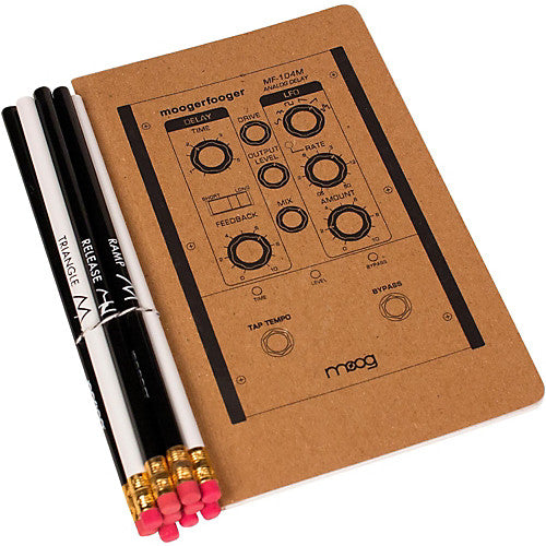 Moog Notebook and Pencil Set