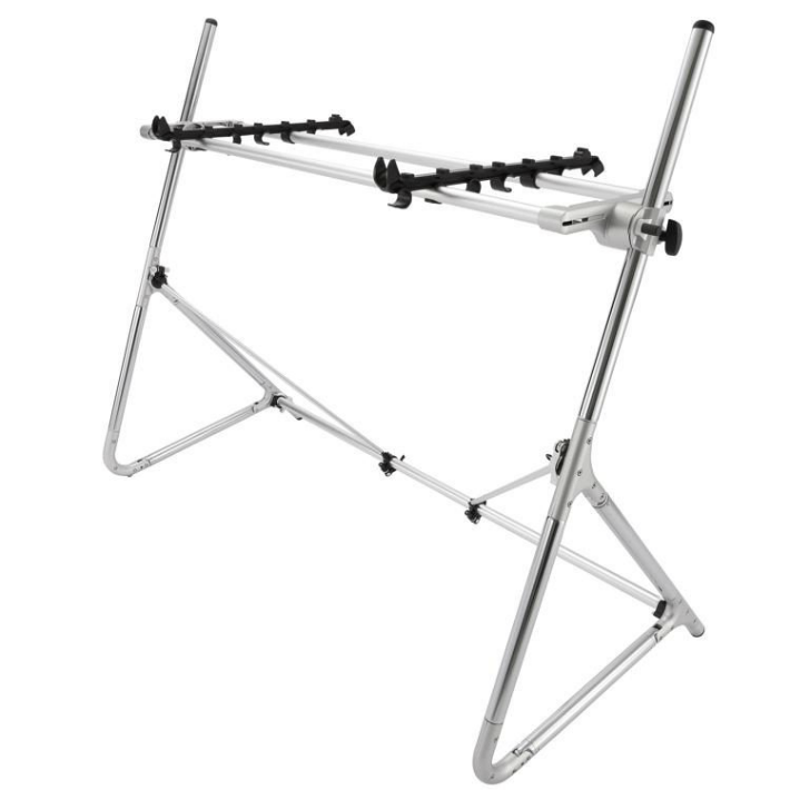 Sequenz Standard-M-SV Medium Keyboard Stand - Silver